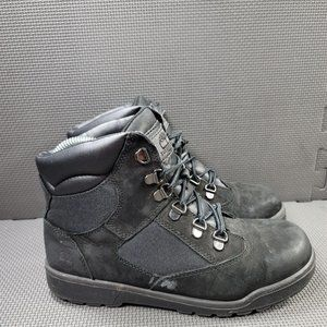 Youth Sz 6.5 Black Timberland 6 Inch Field Boots